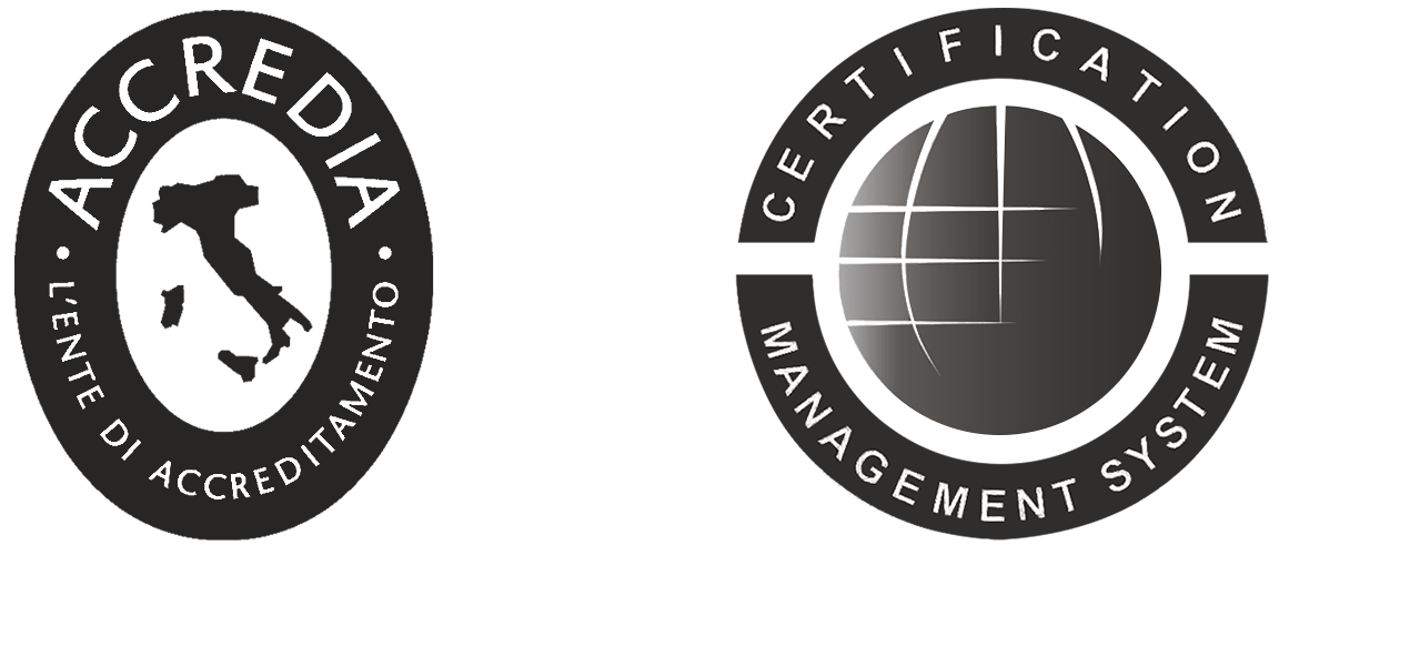 loghi ACCREDIA e certificazione ISO